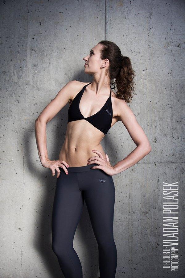 Czech champion in Bikram yoga Lucie Tomášková
